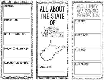 West Virginia - State Research Project - Interactive Notebook - Mini Book