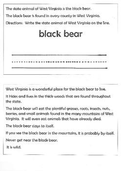 West Virginia Animal and Plant Symbols
