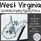 West Virginia Coordinate Graphing Picture 1st Quadrant & ALL 4 Quadrants