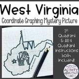 West Virginia Coordinate Graphing Picture 1st Quadrant & A