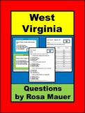 West Virginia Hello USA Task Cards and Worksheet