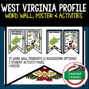 West Virginia History Word Wall, State Profile, Activity Pages