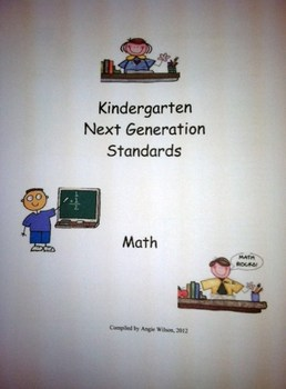West Virginia Kindergarten USER FRIENDLY Next Generation Standards
