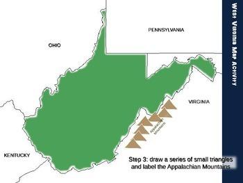 West Virginia Map Activity- fun, engaging, follow-along 20-slide PPT