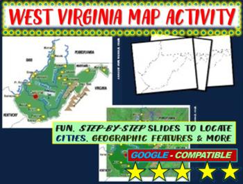 West Virginia Map Activity- fun, engaging, follow-along 20