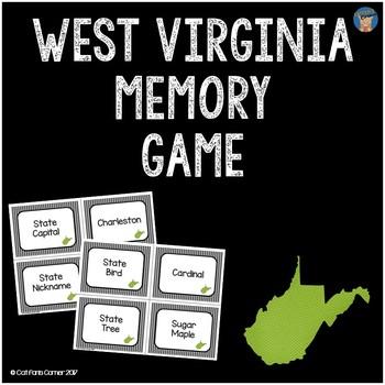 West Virginia Memory Game