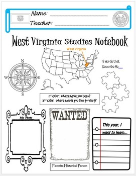 West Virginia Notebook Cover