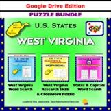 West Virginia Puzzle BUNDLE - Word Search & Crossword - U.S. States - Google