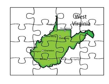 West Virginia Puzzle Map
