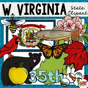 West Virginia State Clip Art