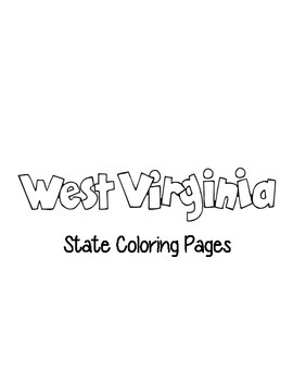 West Virginia State Coloring Pages