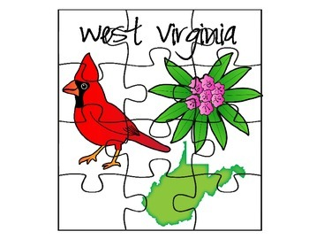 West Virginia State Facts Puzzle Set