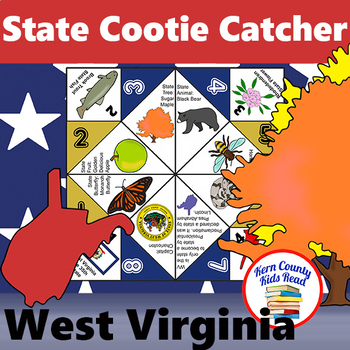 West Virginia State Facts and Symbols Cootie Catcher Fortune Teller