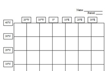 West Virginia State Latitude and Longitude Coordinates Puzzle - 55 Pts. to Plot