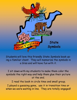 West Virginia State Symbols Student Book