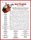 WEST VIRGINIA State Symbols Word Search Puzzle Worksheet Activity
