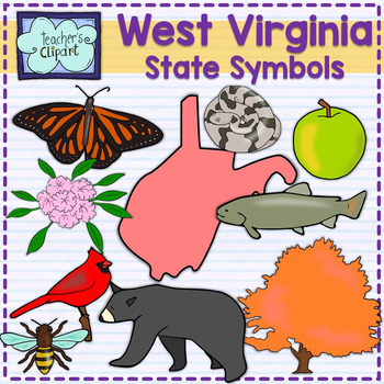 west virginia state symbols clipart