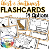 West and Southwest United States Flashcards Differentiated