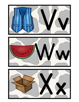 Westen Word Wall Cards -  (Western Classroom Theme/Decor)