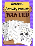 Western Activity Packet