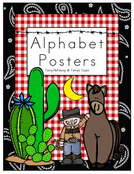 Western Alphabet Posters