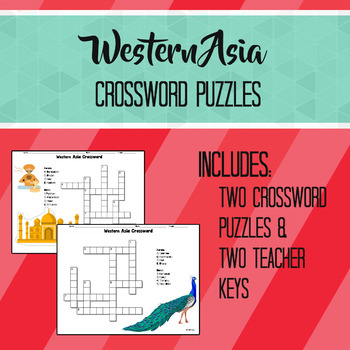 Western Asia Crossword Puzzles