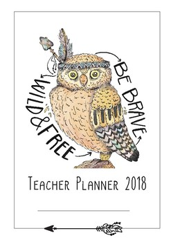 Western Australian High School Teacher Planner 2018- Boho Owl Theme