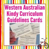 Western Australian Kindy Curriculum Guidelines Card Set WA