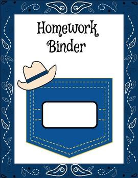 Western Bandana Binder Covers