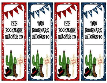 Western Bandana Bookmarks
