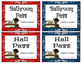Western Bandana Hall Passes