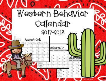 Western Behavior Calendar 2017-2018 School Year