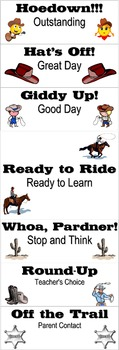 Western Behavior Charts for the Elementary Classroom K-3