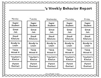 Western Behavior Clip Chart