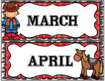 Western Calendar Months