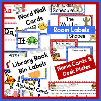 Classroom Decor  Room Theme  Western  Editable