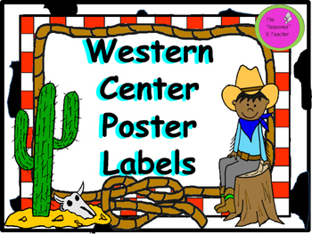 Western Center Poster Labels