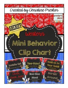 Western Chalk Mini Behavior Clip Chart