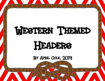 Western Chevron Headers