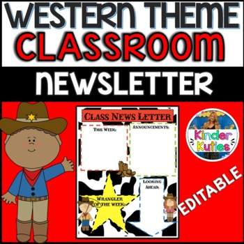 Western Class News Letter **EDITABLE**