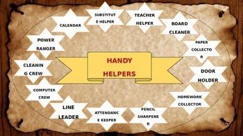 Western Classroom Job Chart