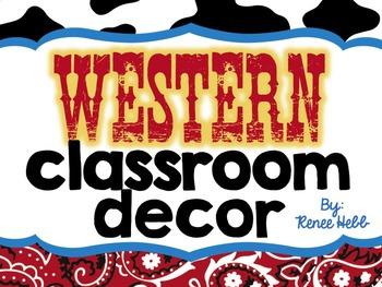 Western Classroom Decor