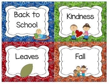 Western Classroom Library Labels