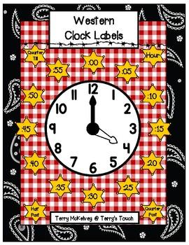 Western Clock Labels