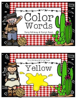 Western Color Word Posters