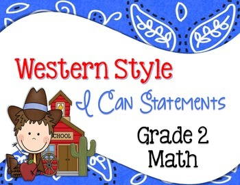 Western Common Core I Can Statements Math Grade 2