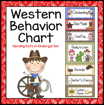 Western Cowboy Behavior Clip Chart