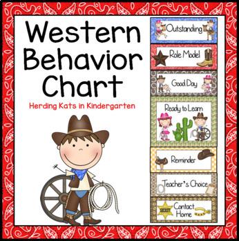 Western Cowboy Behavior Clip Chart