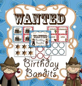 Western / Cowboy Birthday Mini-Bulletin Board Set (Editable)