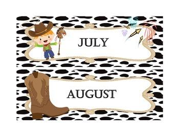 Western / Cowboy Calendar